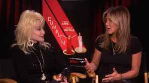 Jennifer Aniston, Dolly Parton Talk 'Dumplin' [Video]