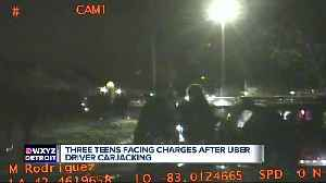 Three teens accused of assaulting, carjacking Uber driver in Macomb County [Video]