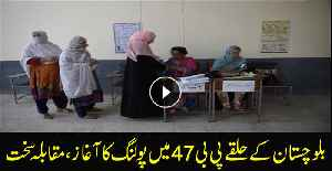 Polling begins for by-election in PB 47 Balochistan [Video]