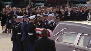 Final farewell as President George H.W. Bush returns home to Houston [Video]