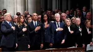 Trump Quickly Left George H.W. Bush's Funeral And Was Back At The White House Before The Casket Left The Cathedral [Video]