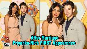 Priyanka -Nick FIRST Public Appearance as MARRIED Couple [Video]