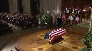 Bush gives humorous, tearful eulogy [Video]