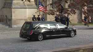 Bush's body returns to Texas from D.C. for burial [Video]