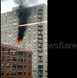 Massive fire breaks out at New Jersey high rise [Video]