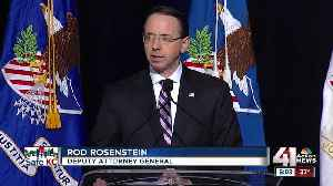 Deputy attorney general opens DOJ conference [Video]