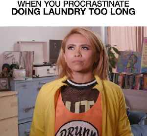 When You Procrastinate Doing Laundry Too Long [Video]