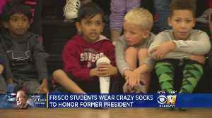 North Texas Elementary School Kids Pay Tribute To Late President By Wearing 'Crazy Socks' [Video]