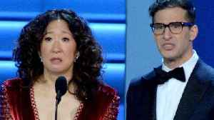 This is not a drill! Sandra Oh and Andy Samberg will co-host the 2019 Golden Globes [Video]