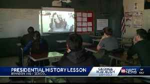 Students watch Bush funeral [Video]
