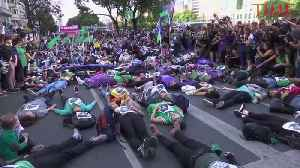 ARGENTINIAN WOMEN PROTEST ACQUITTAL OF RAPISTS [Video]