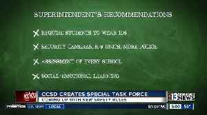 CCSD task force makes new school safety recommendations [Video]