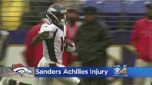 'Hard To Watch': Broncos Players React To Emmanuel Sanders Falling To Ground [Video]
