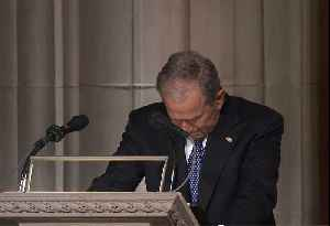 News video: George W. Bush's Full Eulogy for His Late Father George H.W. Bush