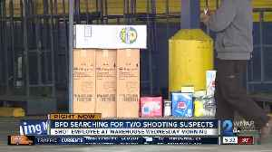 One injured in warehouse shooting, suspects still on the run [Video]