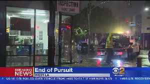 Pursuit Ends With Crash Into Store Near UCLA [Video]