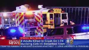 Two Killed When Wrong-Way Truck Hits School Bus [Video]
