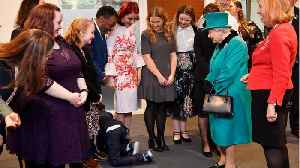 A Boy Became So Overwhelmed By A Visit From The Queen He Crawled To The Exit [Video]