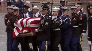 Loved Ones Say Final Goodbyes at George HW Bush Funeral in Texas [Video]