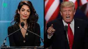 Amal Clooney Calls Out Trump For Attacking The Press [Video]