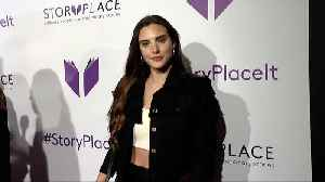 "Macarena Achaga ""StoryPlace"" Official App Launch Party Purple Carpet [Video]"
