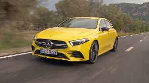 Mercedes-AMG A 35 4MATIC in Sun yellow Driving Video [Video]