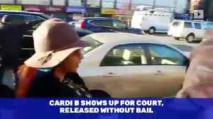 Cardi B Shows Up for Court, Released Without Bail [Video]