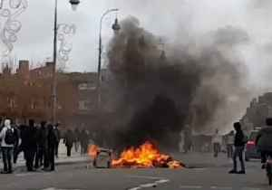 Fires Lit During Student Protests in Toulouse, Southern France [Video]