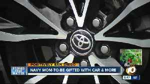 San Diego Navy mom-to-be gifted with car [Video]