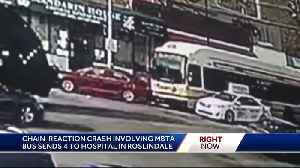 Video captures MBTA bus hitting car that was pushed into pedestrian [Video]