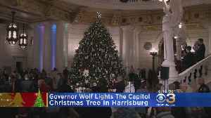 Governor Wolf Lights Capitol Christmas Tree In Harrisburg [Video]