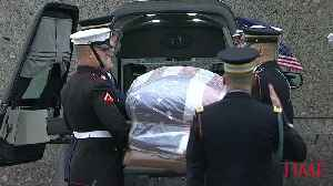 George H.W. Bush Is Laid to Rest in Private Graveside Service Following Public Farewell [Video]