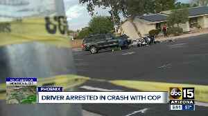 Arrest made after driver allegedly hit motorcycle officer in Phoenix [Video]