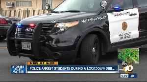 Students arrested during a School lockdown drill [Video]