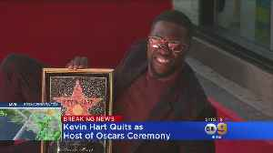 News video: Kevin Hart Steps Down As Oscars Host After Outcry Over Anti-Gay Tweets