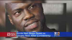 News video: Kevin Hart Steps Down As Oscars Host Following Outcry Over Previous Anti-Gay Tweets
