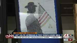 Art as therapy: Valor Recovery Program hosts first exhibit of art by PTSD patients [Video]