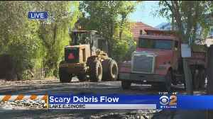 Bulldozers Cleaning Up After Storm In Holy Fire Burn Area [Video]