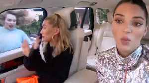 MIley Cyrus Surprises Kendall Jenner & Hailey Bieber During Carpool Karaoke [Video]