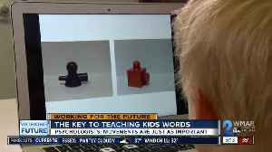 Words and hand motions help children learn [Video]