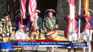 Preparing to Lay Wreaths for Veterans [Video]