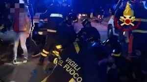 News video: 6 dead in stampede at rap concert in Italy