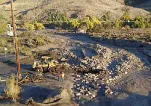 Workers Clear Mudslides in California's Temescal Valley [Video]