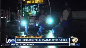 300 homeless people still in SDCCU Stadium after floods [Video]