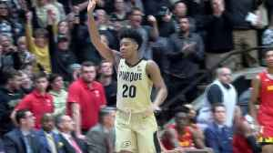 Edwards' late flurry leads Purdue past No. 23 Maryland 62-60 [Video]