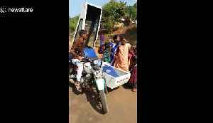India's motorcycle-ambulances help save lives in remote areas [Video]
