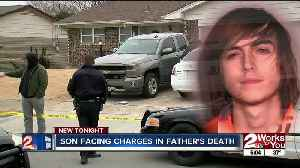 Son facing charges in father's death [Video]