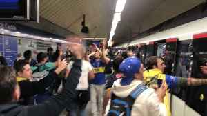 Boca Juniors Fans Sing on Packed Madrid Metro Ahead of Copa Libertadores Final [Video]