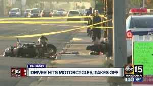 Driver wanted after hitting two motorcyclists in Phoenix [Video]