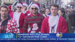Hundreds Hit The Streets For SantaCon [Video]